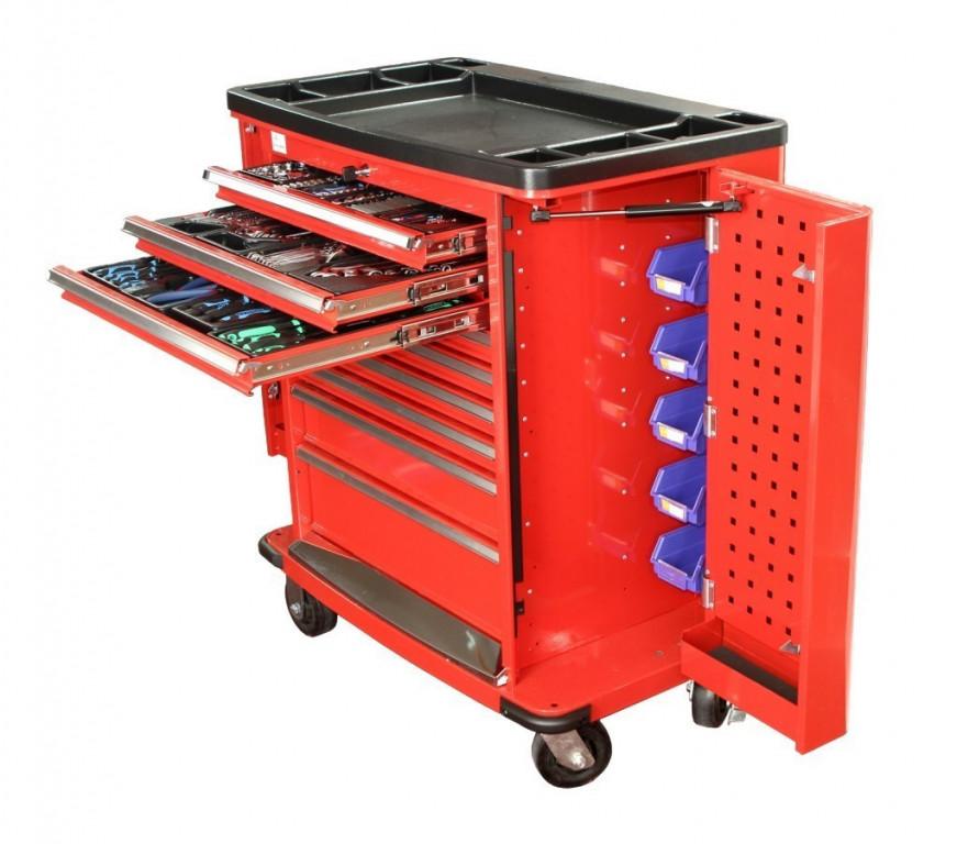 PROFI Dílenský vozík s nářadím 420 ks, červený - TBR0109-XBAL