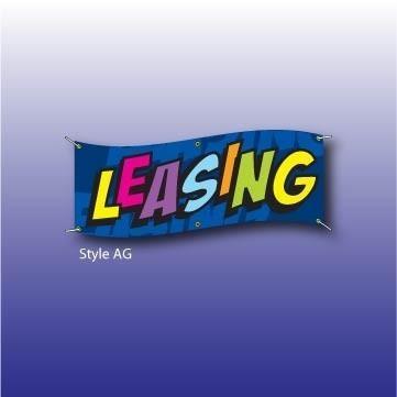 Vlajka s nápisem LEASING - 125270064