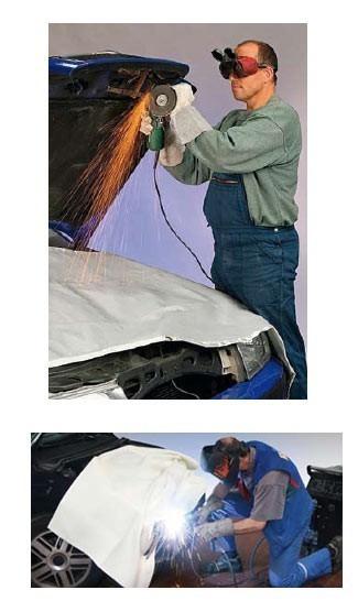 Svářečská deka - do 600 stupňů - 200x200cm - 334080105