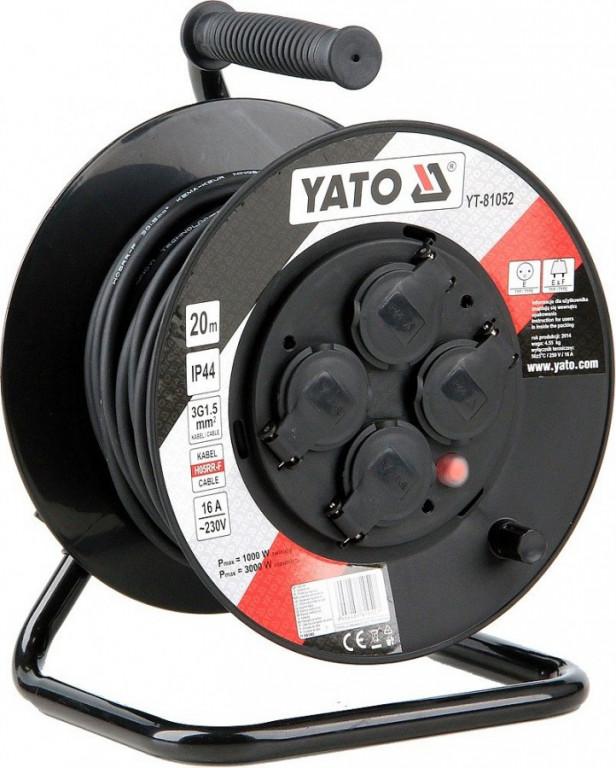 Prodlužovací kabel, buben 20 m, 4 zásuvky - YT-81052