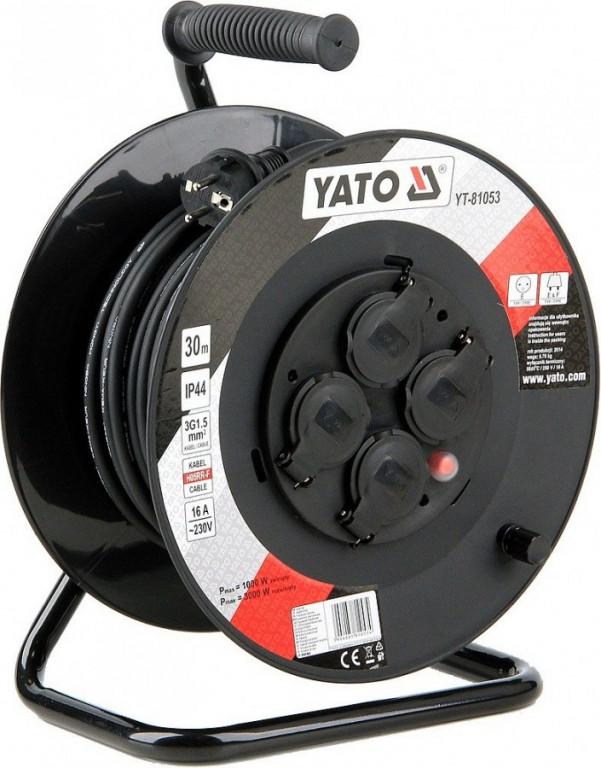 Prodlužovací kabel 30 m, buben 4 zásuvky - YT-81053