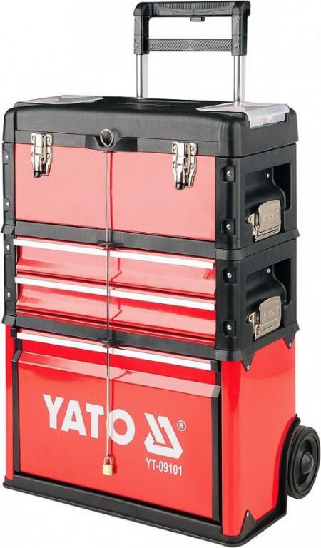 Pojízdný box na nářadí, 3 díly - YT-09101