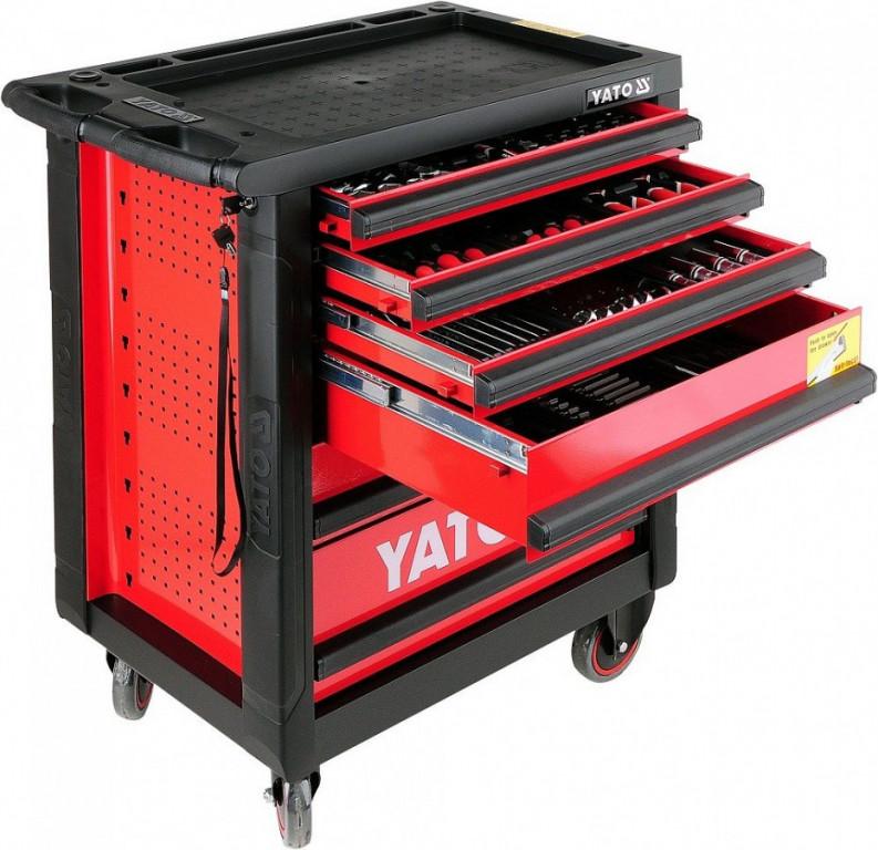 Skříňka dílenská pojízdná s nářadím (177ks) 6 zásuvek YATO YT-5530