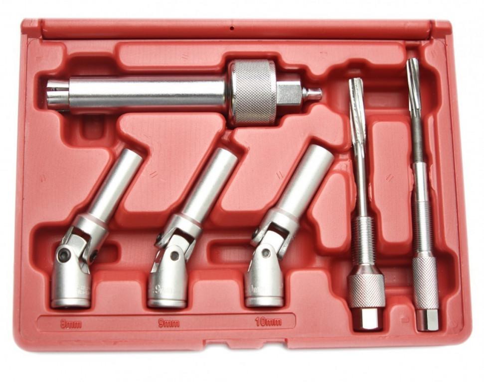 Sada klíčů a výstružníků na žhavicí svíčky, 6 ks - H0740