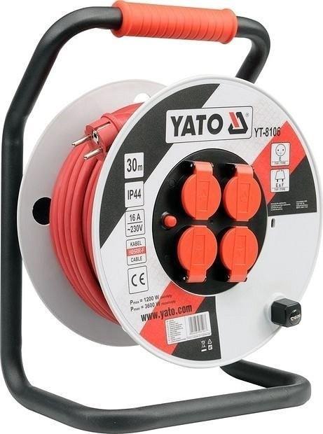 Yato Prodlužovací kabel YT-8106 30m 4 zásuvky