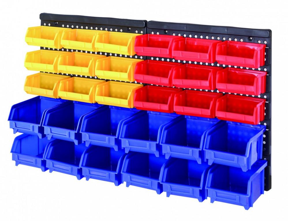 Plastový organizér na šrouby s 30 boxy - MSBRWK1812