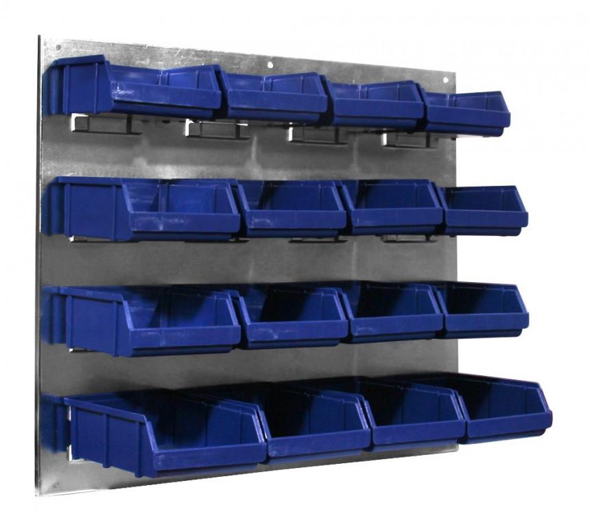 Kovový organizér s plastovými boxy - JJ001231