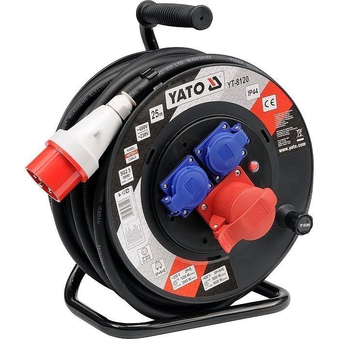 Prodlužovací kabel silový na bubnu 25m - YT-8120