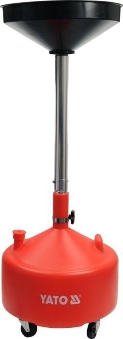 Miska na odčerpání oleje 20l 420 mm nastavitelná výška 75-155 cm