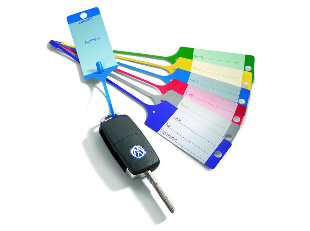 Modré PP plastové visačky na klíče 100ks - 434010080