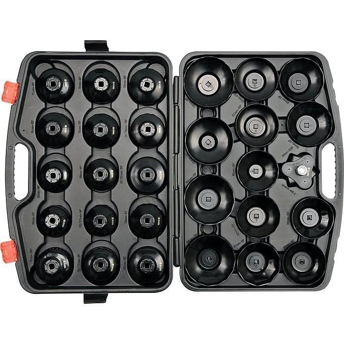 Sada klíčů miskových na olejové filtry 30 ks - YT-0596