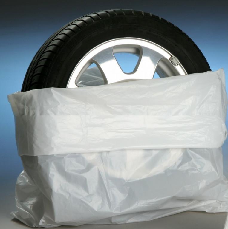Bílé obaly na pneumatiky 100 ks - 0991813