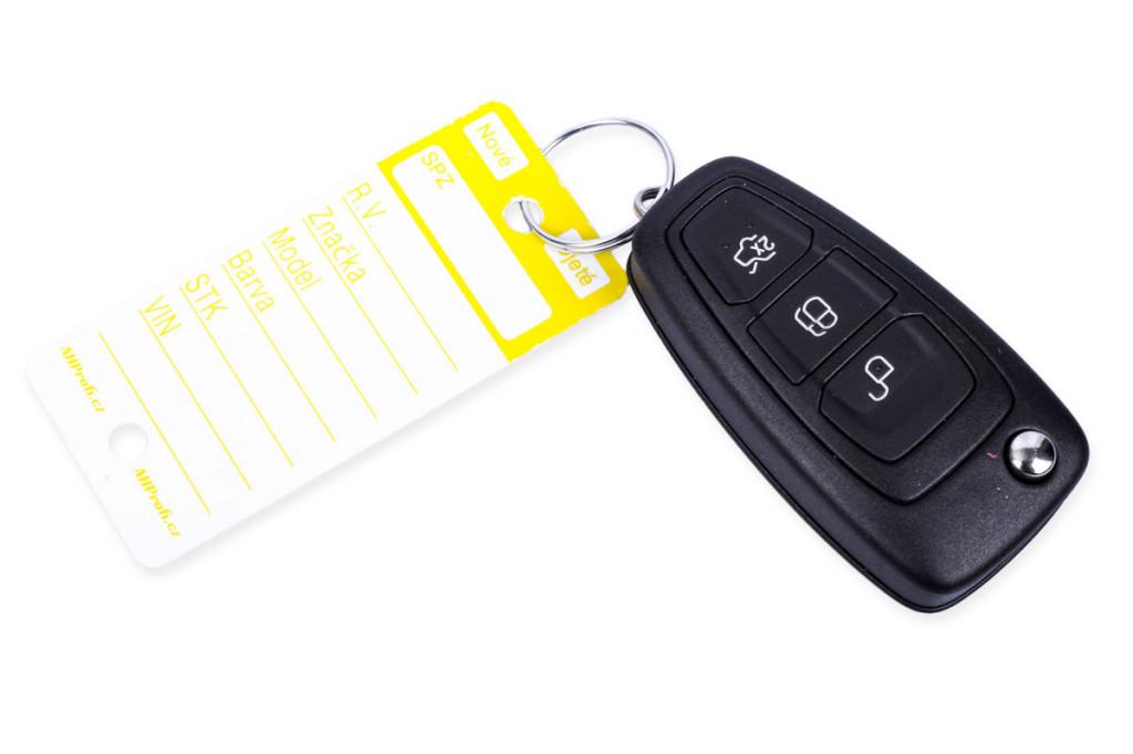Žluté PLUS plastové visačky na klíče 250ks - 434030011