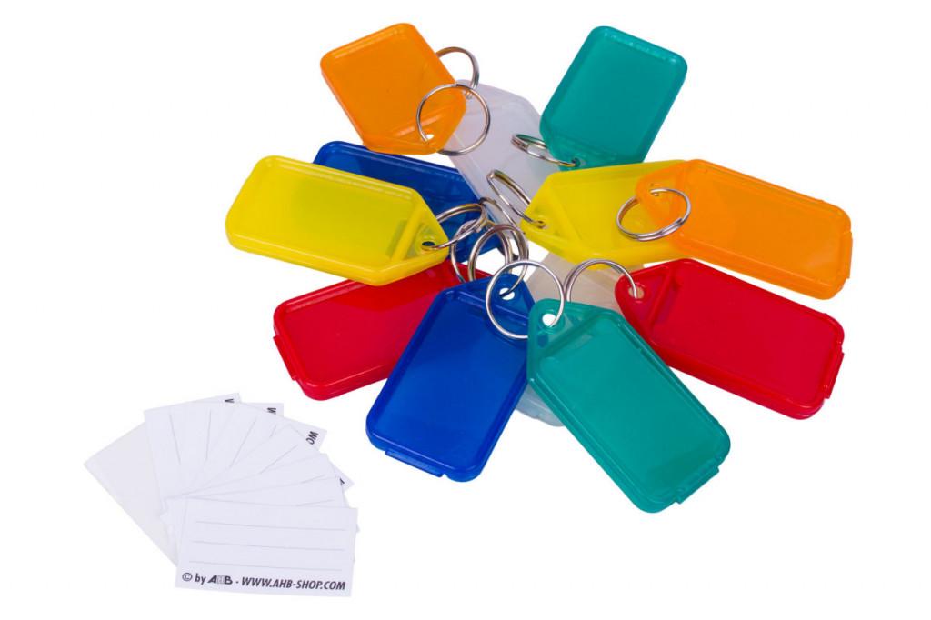 Vícebarevné CLICK plastové visačky na klíče - velké 50ks - 434090190