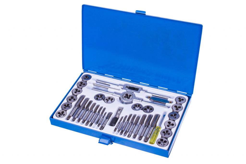 Sada závitníků v kovovém kufru, 40 dílů - LATD1334