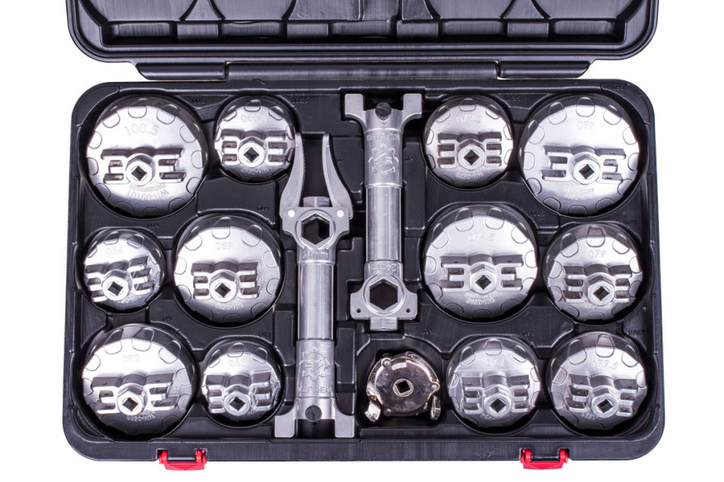 Sada aluminiových klíčů na olejové filtry 15 ks - H2925