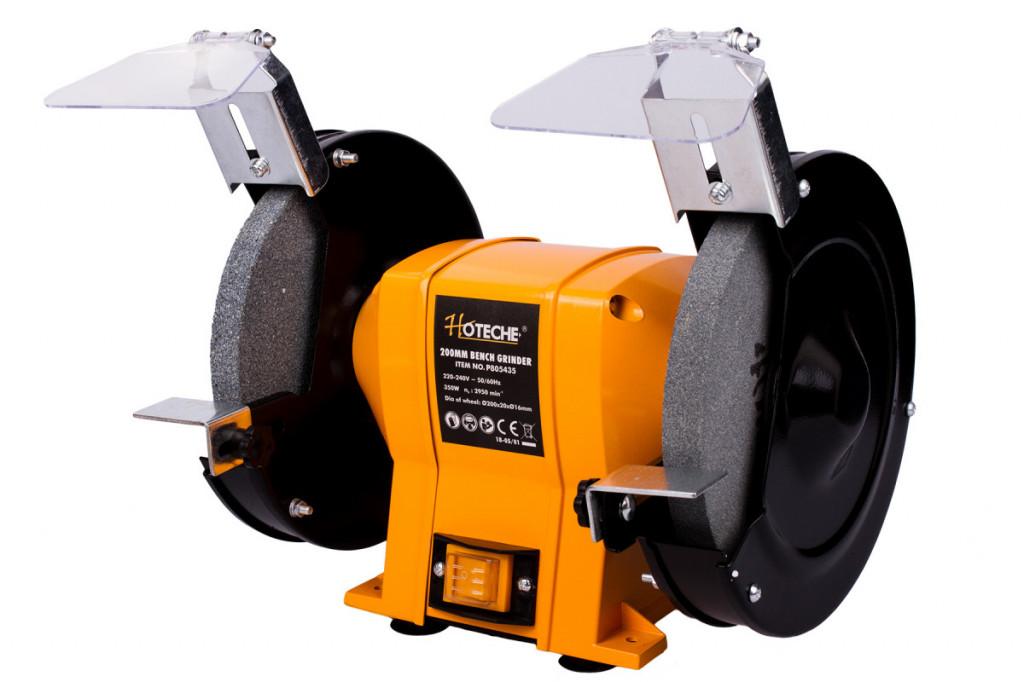 Stolní dvoukotoučová bruska 200 mm, 350 W - HTP805435