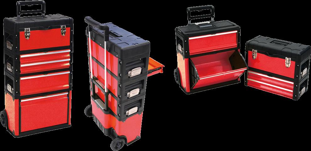Pojízdný box na nářadí, 4 díly - TPM1014