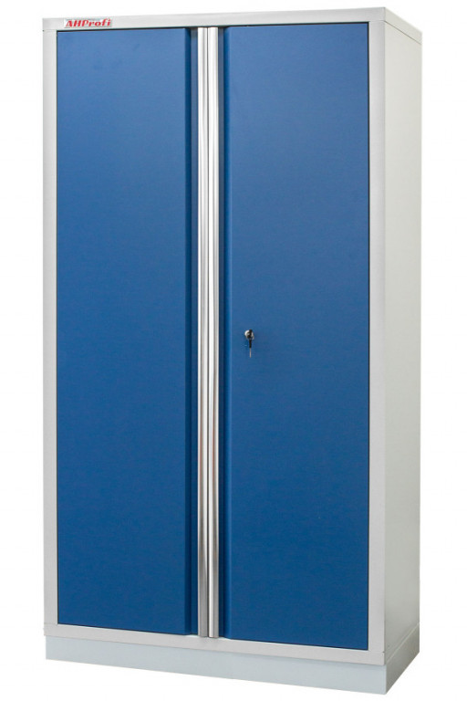 Celokovová široká dílenská skříň PROFI BLUE 915x458x2000 mm - MTGB1336