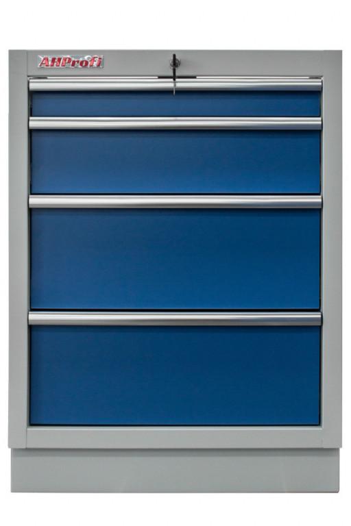 Celokovová dílenská skříňka PROFI BLUE se 4-mi šuplíky 680x910x458 mm - MTGC1304
