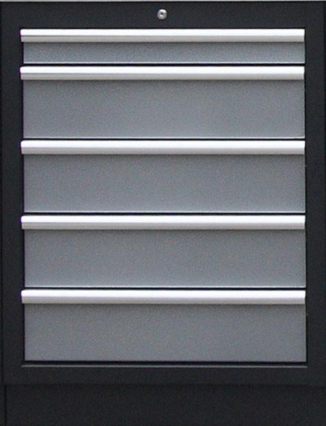 Celokovová dílenská skříňka PROFI s 5-ti šuplíky 680x910x458 mm - TGC1305