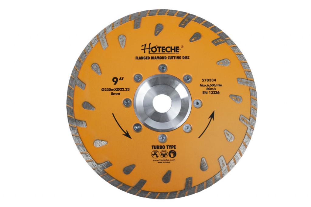 Diamantový řezný kotouč 230 mm, TURBO - HT570334