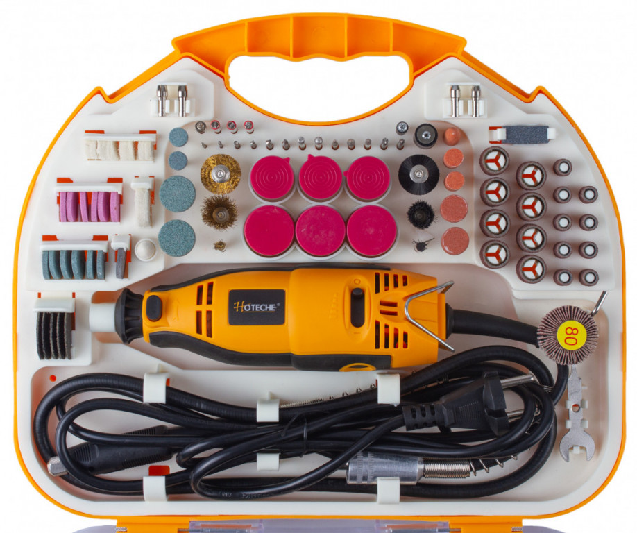 Mini bruska s příslušenstvím 160 W, 200 ks - HTP801201