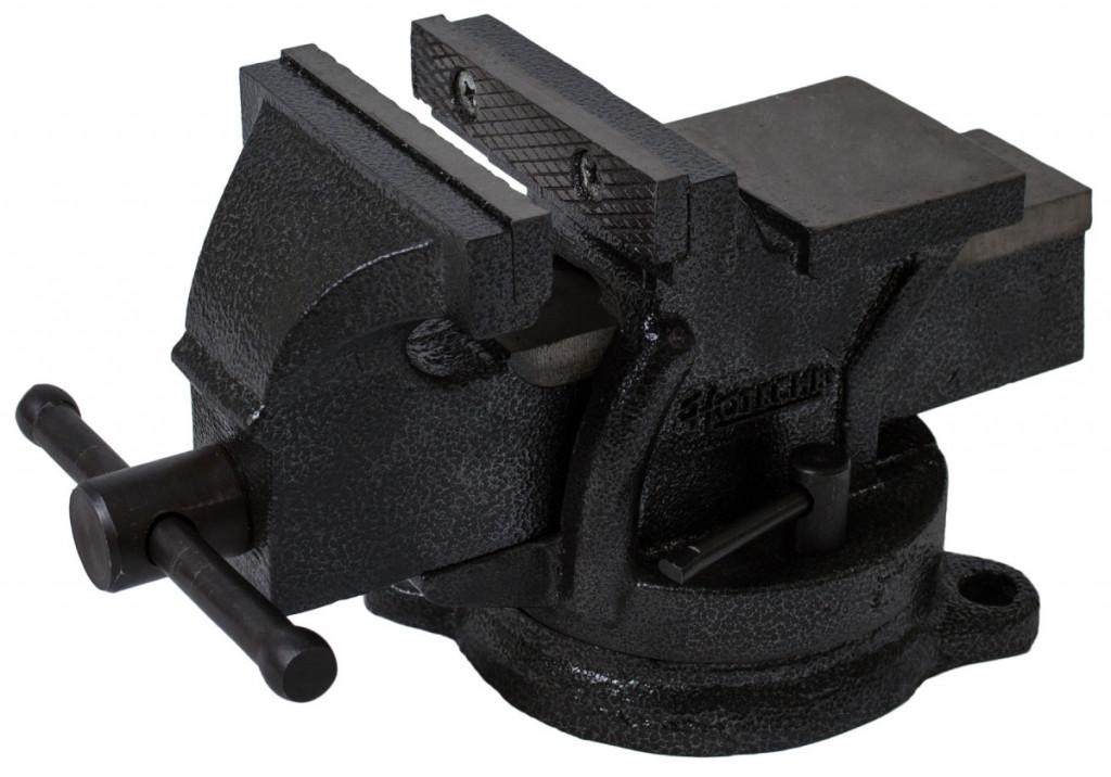 Otočný dílenský svěrák 100 mm, 6 kg - HT300102