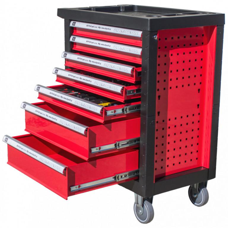 Dílenský vozík Standard s nářadím, 245 dílů - H14019D