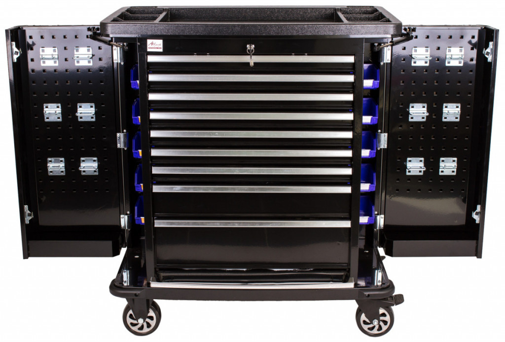 Dílenský vozík Titan s nářadím 405 ks, černý - TBR0109-XBBAL2