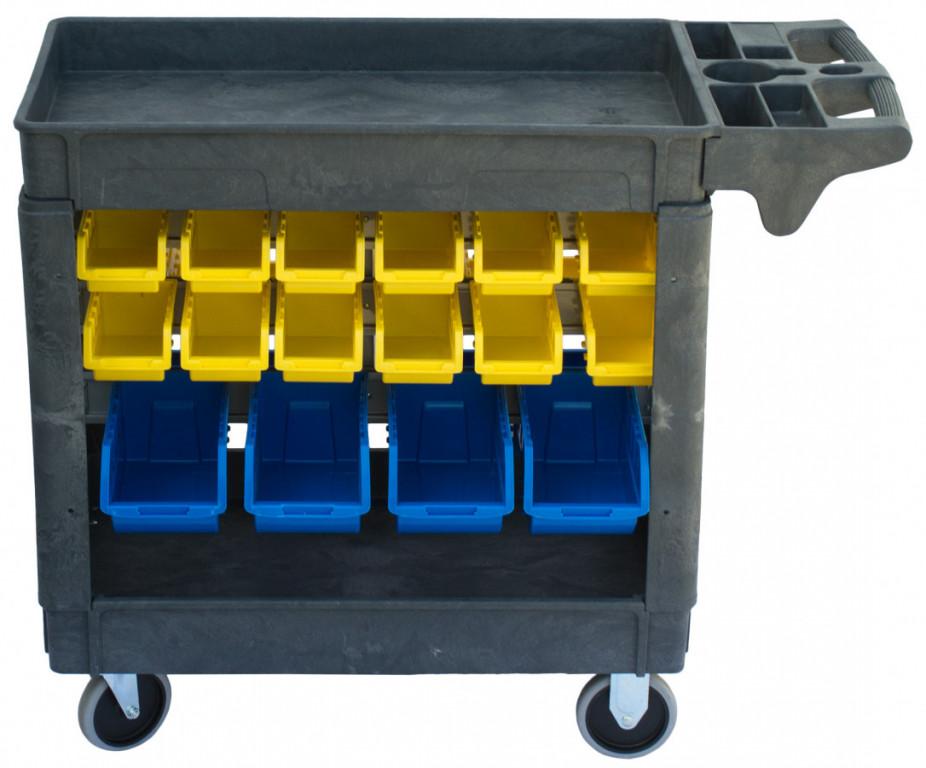 Dílenský vozík s boxy 790 x 430 x 855 mm, 32 boxů - PSB7943