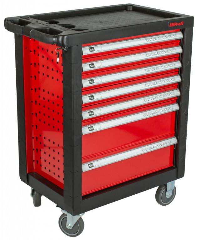 Dílenský vozík prázdný 685x455x975 mm, 7 zásuvek - H14019P