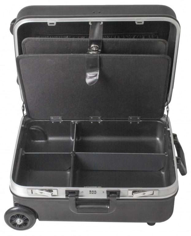 Kufr na nářadí na kolečkách, ABS, 510 x 400 x 240 mm - AH15022