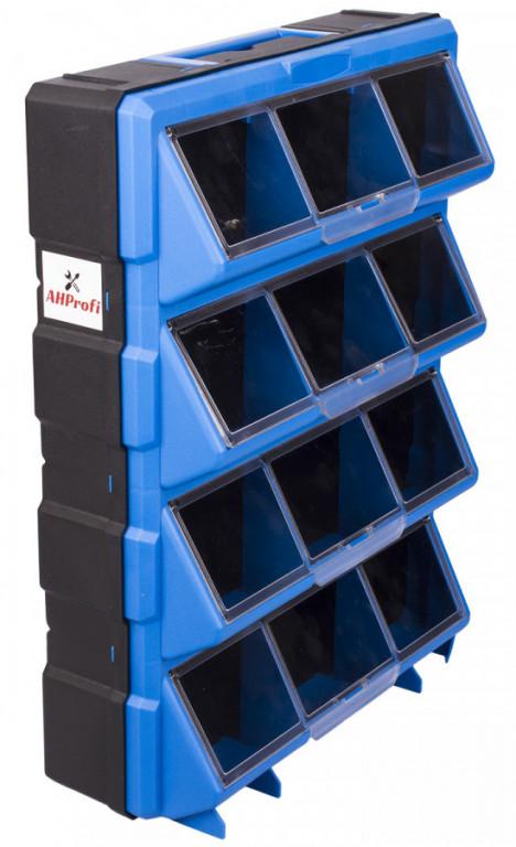 Plastový organizér / box na šroubky, 12 rozdělovníků - MW1504