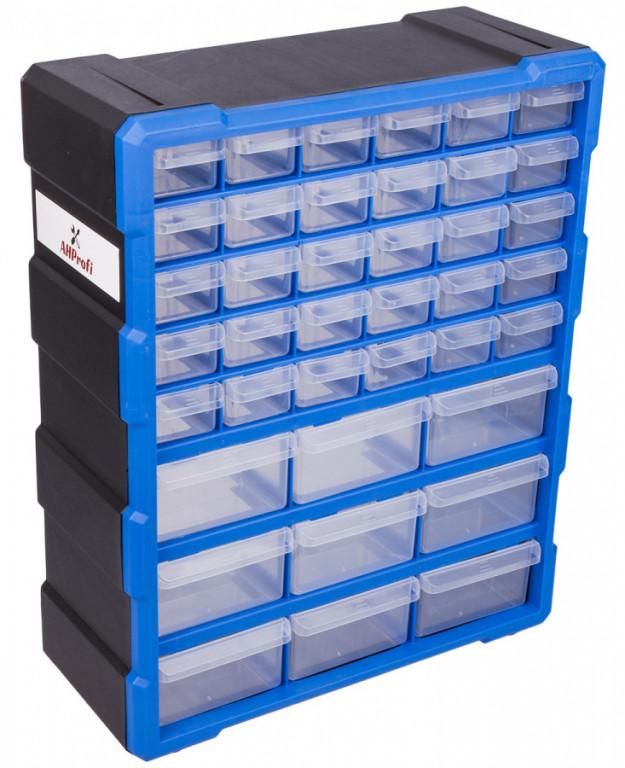 Plastový organizér / box na šroubky, 39 rozdělovníků - MW1502