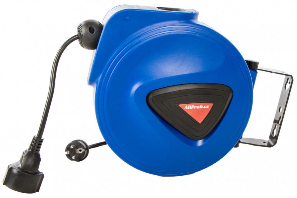 Samonavíjecí buben s elektrickým kabelem a zásuvkou 12m - XBEB01-12