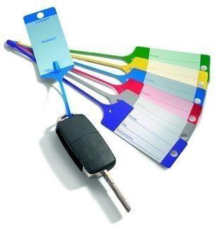 Červené PP plastové visačky na klíče 100ks - 434020080