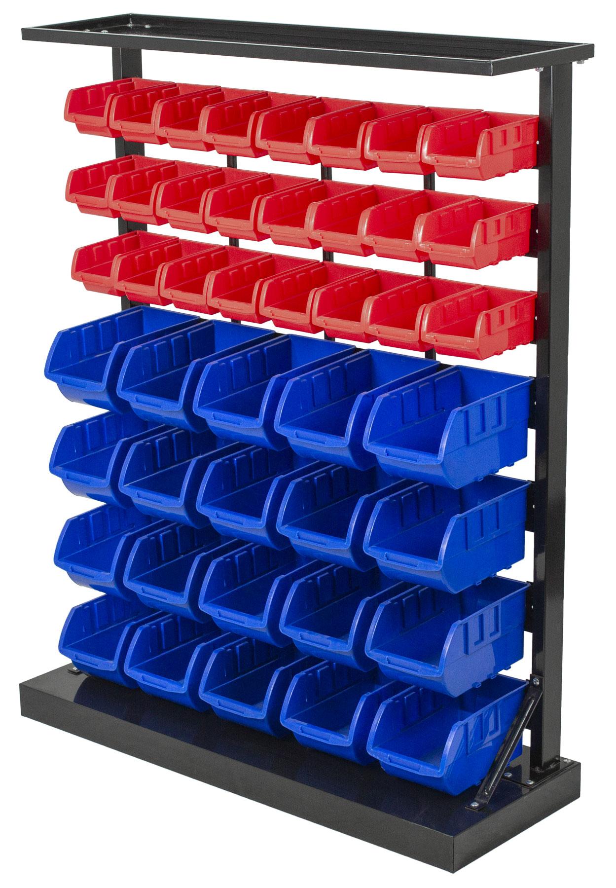 Kovový regál s plastovými boxy 47 ks (7/47) - SBRF3447