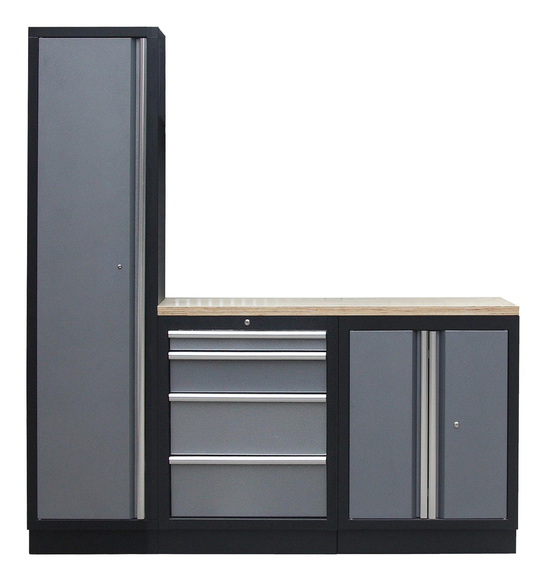 4 ks sestava kvalitního PROFI dílenského nábytku - TGS1300BAL06