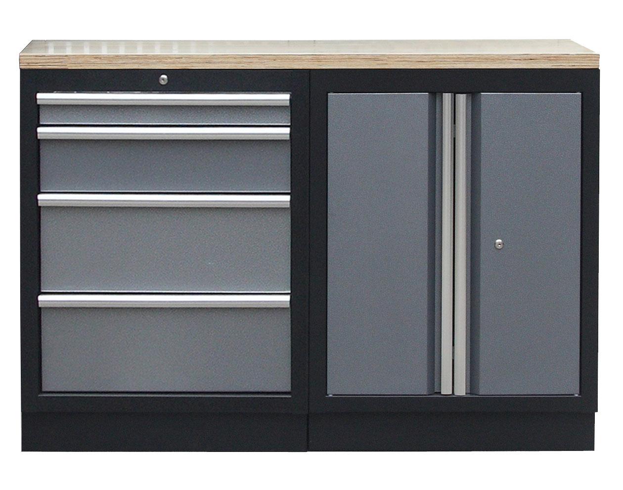 Sestava kvalitních PROFI dílenských skříněk s pracovní deskou - TGS1300BAL07