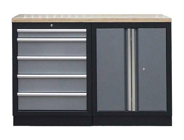 Sestava kvalitních PROFI dílenských skříněk s pracovní deskou - TGS1300BAL08