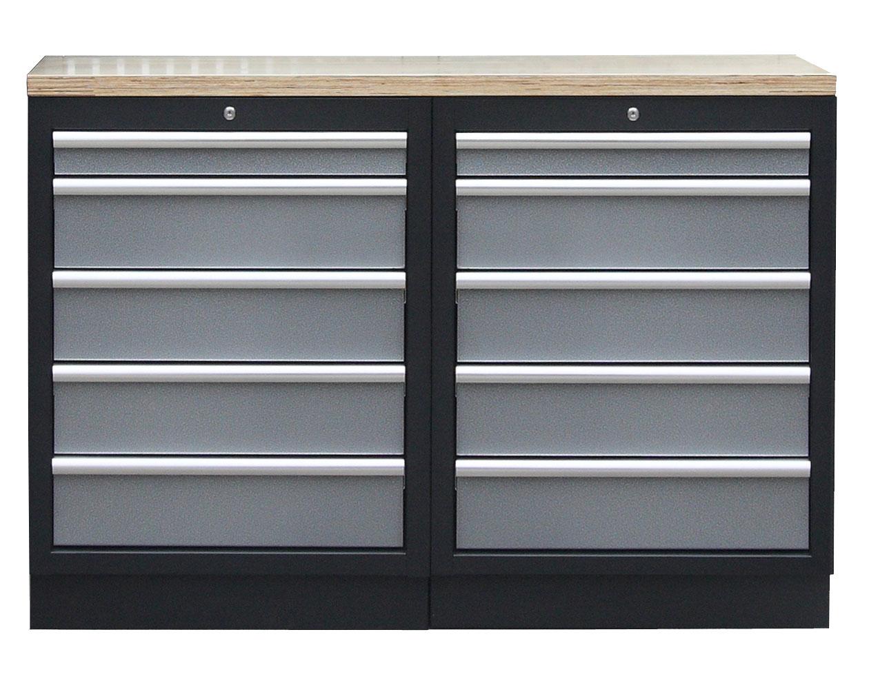 Sestava kvalitních PROFI dílenských skříněk s pracovní deskou - TGS1300BAL11